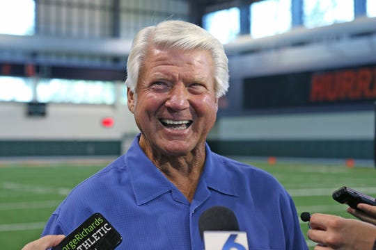 Jimmy Johnson, who coached the Dallas Cowboys to two Super Bowl championships in the 1990s, has been elected to the Pro Football Hall of Fame.