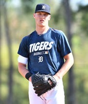 Tigers prospect Matt Manning is one of several young pitchers who could make their Detroit debut this season.