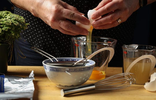 The steamed eggs are simple to prepare. The recipes call for just broth and sesame oil, and a garnish of green onions.