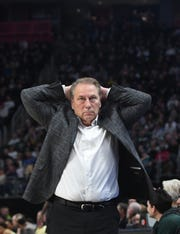 Tom Izzo and Michigan State dropped seven spots in this week's Associated Press Top 25.