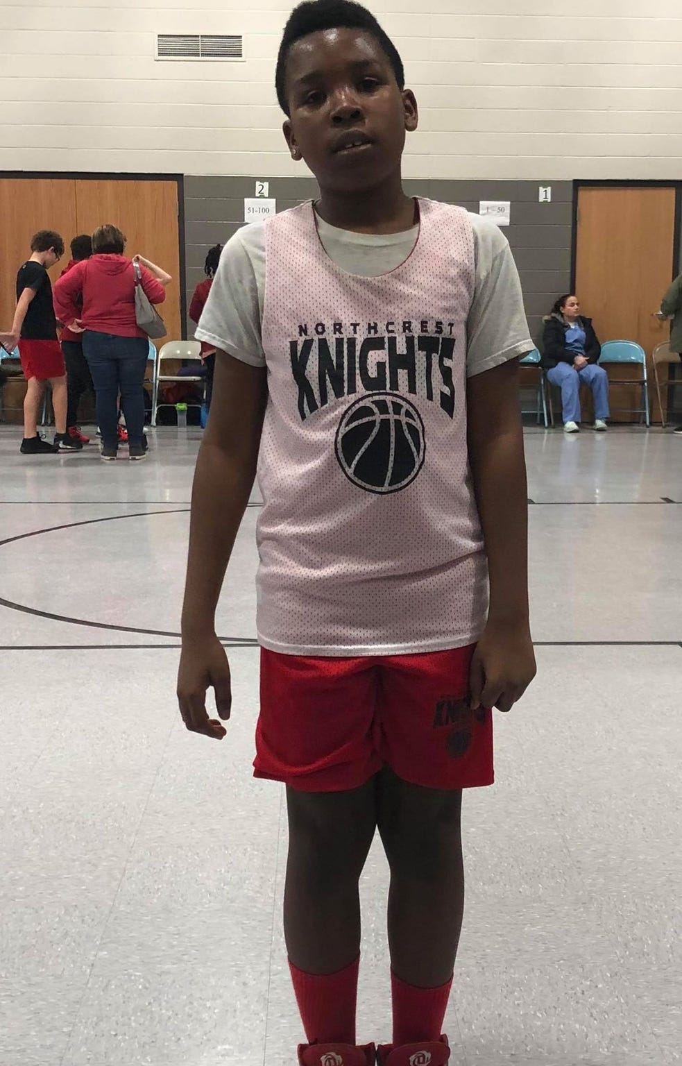 Jeron Lewis' son Jamel, 10, was recently cleared to start playing basketball.