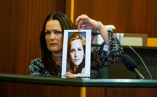 """Annie Lisa, Teresa Sievers sister was first to take the stand. She introduced the jury to her """"beautiful sister"""". Opening statements from the defense and prosecution in the Jimmy Rodgers trial at the Lee County Justice Center, Fort Myers, FL, October 10, 2019. He is on trial for the murder of Teresa Sievers."""