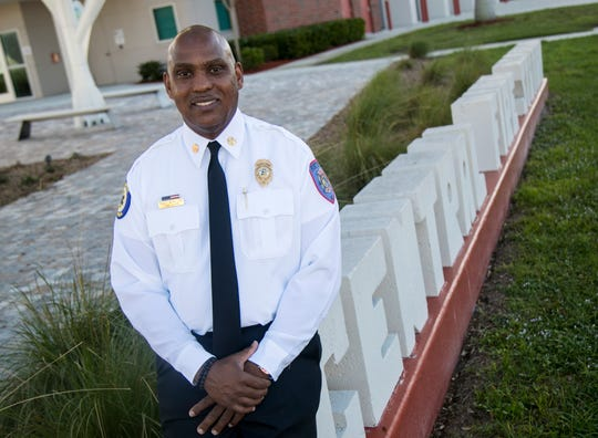 Tracy McMillion, 45, took over as fire chief for the City of Fort Myers in December 2019. He is the city's first black fire chief.