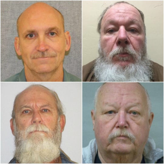 The four men convicted in 1984 in connection to the rape, beating and death of Margaret Anderson of Green Bay. Clockwise from top left: Randolph Whiting, Mark Lukensmeyer , Denice Stumpner and Mark Hinton