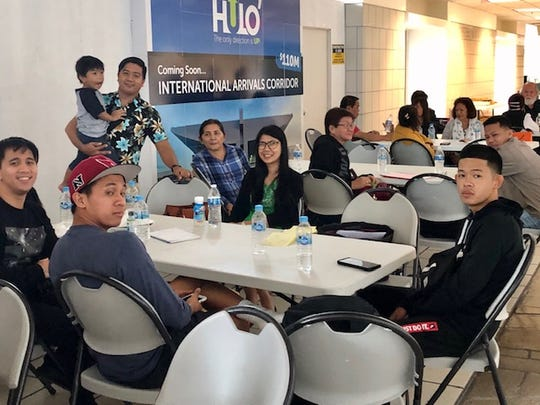 Passengers originating from Colorado, California, Saipan and other places are stranded at the A.B. Won Pat International Airport Guam since Sunday night because their connecting flight to Manila were cancelled as a result of a volcanic eruption in the Philippines that shut down the international airport in Manila. Stranded passengers of United said they had to sleep on chairs and other available airport space Sunday night while waiting for any announcement from the airline about their flight to Manila.