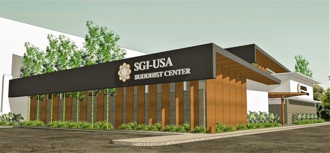 Architectural rendering of Soka Gakkai Buddhist Center south of ITC Building, Tamuning, Guam.