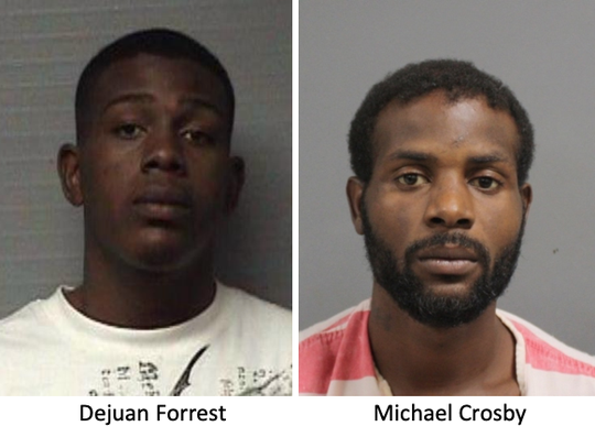 Dejuan Forrest, left, and Michael Crosby
