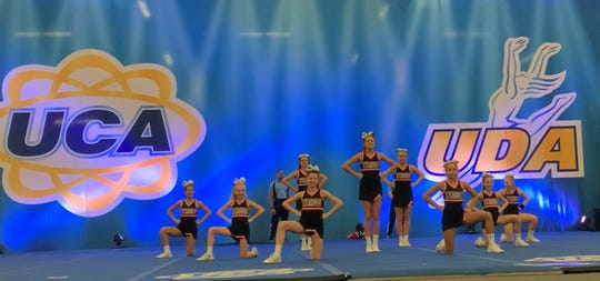 In a routine at a national qualifying event in December 2019, the Powell Middle School cheerleaders were flawless.
