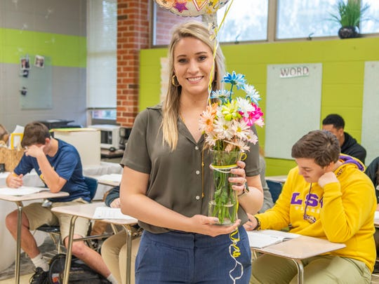 Pamela Sorensson, an English teacher at Carencro High School, was named the Lafayette Parish High School Teacher of the Year.
