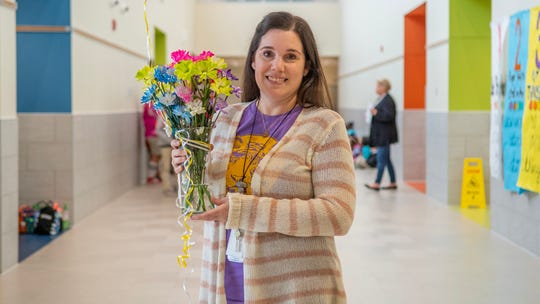 Katie Geiger, who teaches at Martial F. Billeaud Elementary, was named the Lafayette Parish School System Elementary Teacher of the Year on Monday, January 13, 2020.