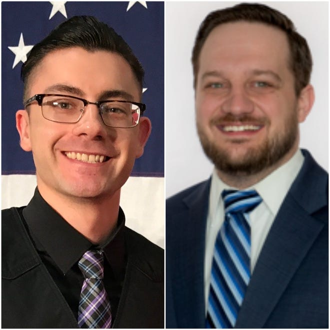 Whitehall resident Daniel Kilgore, left, and Columbus resident Joel Newby will face each other in the 15th Congressional District Democratic primary March 17.