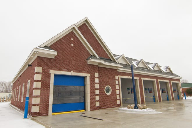 The rebuilt The Soapy Bucket Car Wash in Howell, shown Monday, Jan. 13, 2020, is set to reopen Friday.