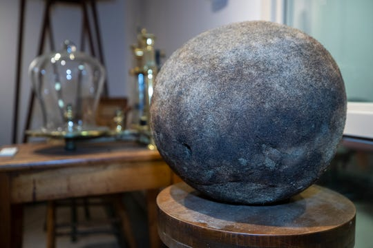 A hairball from a cow was donated to the Transylvania University Medical School by George Rogers Clark Todd, brother-in-law of President Abraham Lincoln in 1848. The 14-in. diameter ball is part of the Monroe Moosnick Medical and Science Museum at the school. Jan. 6, 2020.