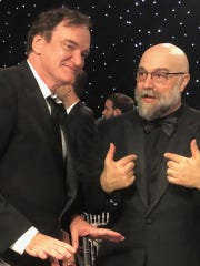 """Quentin Tarantino, left, and Memphian Craig Brewer are pictured at the Critics' Choice Awards on Sunday in Los Angeles. Brewer's """"Dolemite Is My Name"""" won the award for Best Comedy."""
