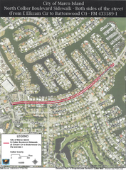 North Collier Boulevard sidewalk project consists of 6-foot widesidewalks on both sides of North Collier Blvd. betweenElkam Circle and Buttonwood Court.