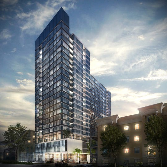 The Portfolio apartment high-rise proposed for Milwaukee's east side could be scaled down to a mid-rise development.