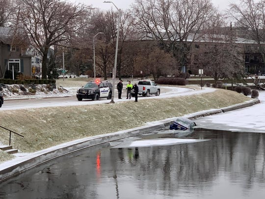 A car ended up in Fowler Lake in Oconomowoc on Jan. 11.