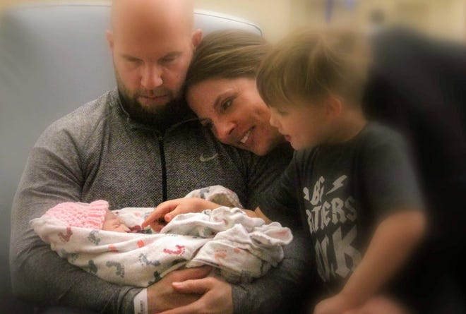 Brandon and Lisa Price of New Berlin have two children, Chase and Ari. Ari had Trisomy 13 and died less than 10 hours after she was born in 2017.