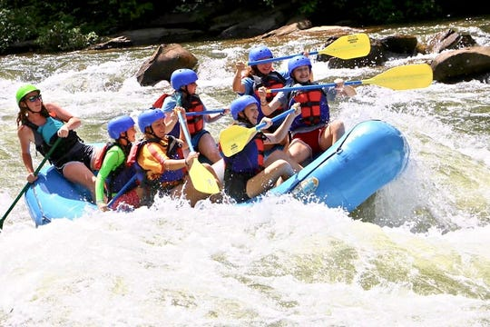Whitewater rafting on the Ocoee River in east Tennessee just one of the activities BSA Troop 2019 has taken part in since becoming one of the first all-female scout troops to join the organization within the Boy Scouts of America.