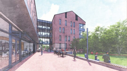 An artist's sketch of the new senior Denison residence project currently under construction.
