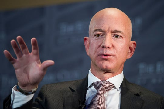 Amazon founder Jeff Bezos has a fortune estimated at $110 billion.