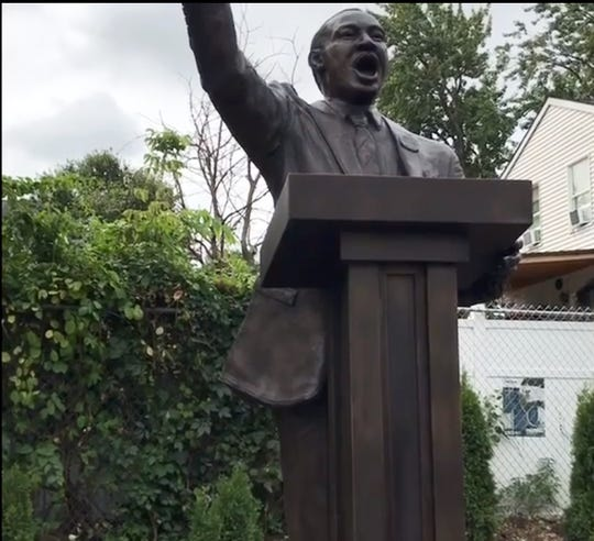 Martin Luther King statue unveiled at the MLK Park In Paterson