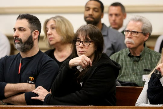 Family of the deceased are shown in Morris County Superior Court, Monday, January 13, 2020.