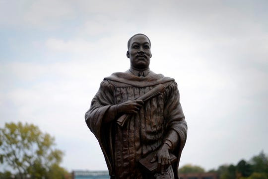The Martin Luther King Statue in Hackensack