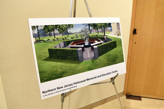 A mock up of the Holocaust memorial to be put on the municipal green in Teaneck.