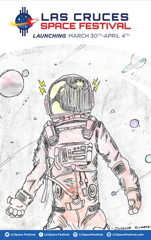This original illustration by Vista Middle School student Josswe Duarte, a seventh-grader, has been selected as the official poster image for the 2020 Las Cruces Space Festival.