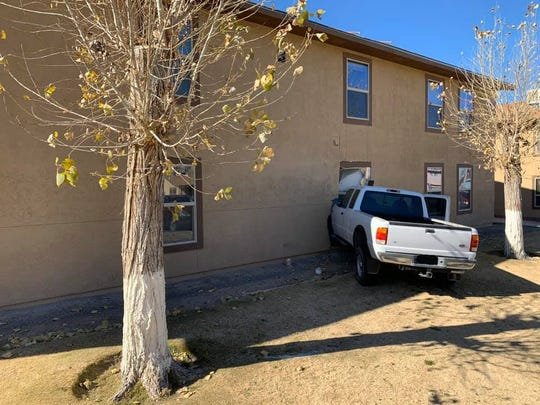 The Sunland Park Fire Department said a vehicle crashed into an apartment building Monday afternoon, Jan. 12, 2020.