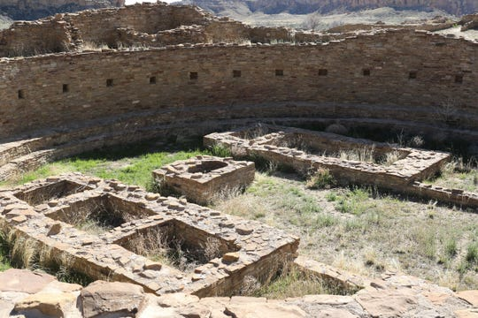 A kiva at Pueblo Bonito is pictured April 14, 2019, at Chaco Culture National Historical Park. New research calls into question the settlement's status as a large population center during the Anasazi era.
