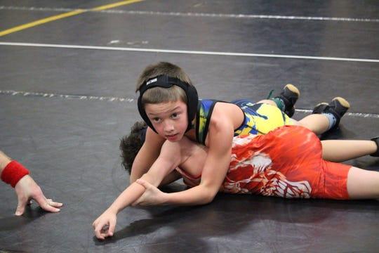 Michigan Matcats wrestler Sam Cowgil