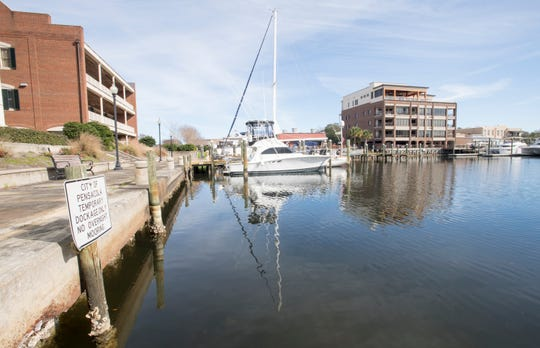 Baylen Slip in downtown Pensacola on Jan. 8, 2020.  This is one of the launch sites for a proposed Pensacola Bay Paddling Trail.