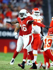 Former Arizona Cardinals cornerback Jimmy Legree (46) is in the Army now.