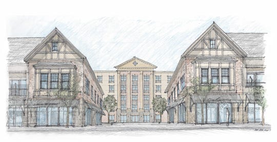 A rendering of the Arthur May Redevelopment Project that would replace the Arthur S. May School building on Raymond Avenue in the Town of Poughkeepsie.