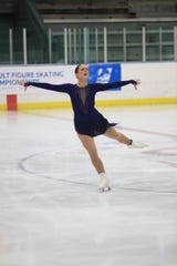 Maria Reynolds competes in the 2017 Adult National Figure Skating Championships.