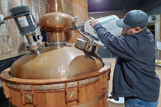 Aaron Lake said that getting working capital is a challenge for people looking to start a craft distillery. He and his wife Tara have Lake House Distilling Co. in Waynesboro.