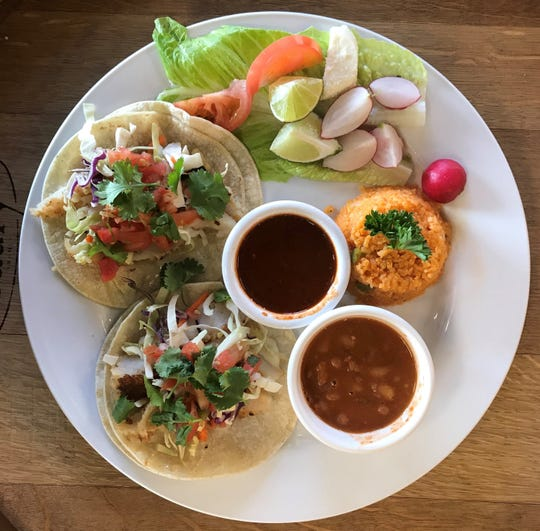 As they are at the original Chuy's in Midtown Reno, fish tacos (here, basa) stand out at the new Mari Chuy's Mexican Kitchen off Victorian Avenue in Sparks.