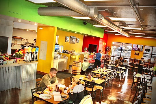 The dining room hums with color at the new Mari Chuy's Mexican Kitchen off Victorian Avenue in Sparks.