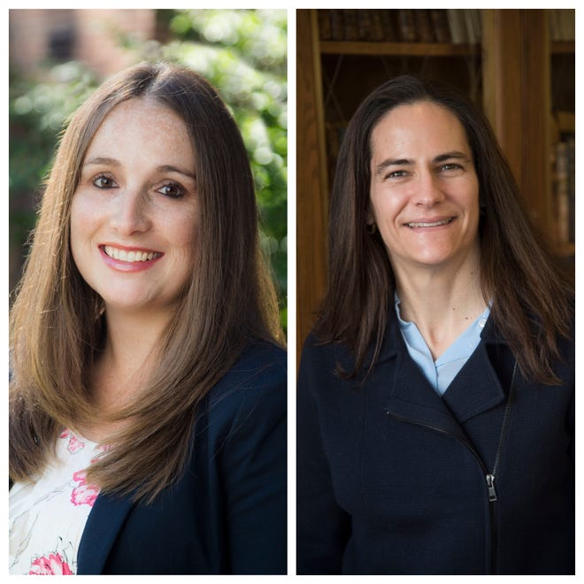 Meaghan Arena, VP for Enrollment and Student Experience at Nazareth College, and Andrea Talentino, VP for Academic Affairs at Nazareth College
