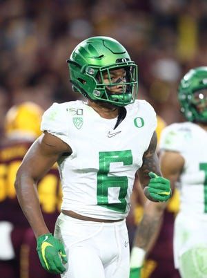 Oregon Ducks cornerback Deommodore Lenoir (6) announced on Monday he is opting back into the 2020 season. (Mark J. Rebilas-USA TODAY Sports)