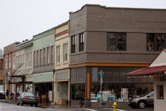 Third Street in downtown Stayton on Jan. 13, 2020. A proposal for an overlay district, intended to make the transition from First Street to Third Street more user friendly, was shot down by the Stayton city council.