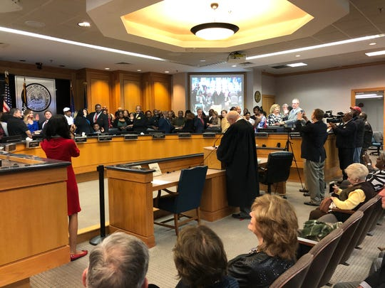 Caddo Commission swearing-in ceremony on Jan. 13, 2020.