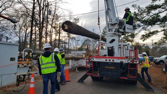 SWEPCO crews continue restoration efforts.