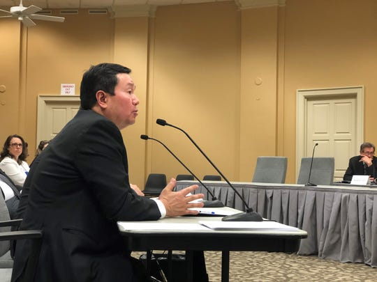 UM System President Mun Choi speaks to a House subcommittee about what he wants from the next state budget on Monday, Jan. 13, 2020.