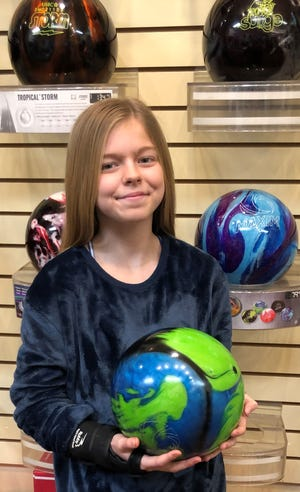Zoey Stokes, an 11-year-old sixth-grader at Hughes Middle School in Mesquite, rolled her way to two first-place finishes in her first-ever bowling tournament at the 2019 Southern Nevada USBC Association Youth Championships