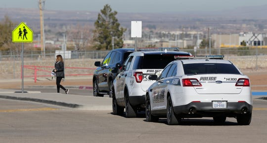El Paso Independent School District police were at Brown Middle School on Monday, Jan. 13, 2020, after threats were made to the campus over the weekend. The district determined the threat was not credible.