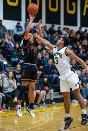 Andrew Ramirez hit six 3-pointers to break the Ventura County single-season 3-point record and finished with 30 points to lead Oxnard to a second-round rout of Crean Lutheran on Friday night.