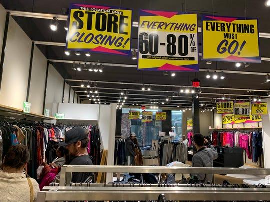 Express in the Visalia Mall will close.